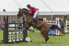 Showjumping at the Edenbridge and Oxted Agricultural show 2015 Royalty Free Stock Images