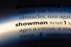 showman photos libres de droits