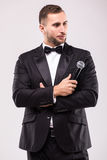 The Showman interviewer. Royalty Free Stock Photo