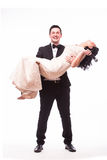 The Showman and showwoman. Royalty Free Stock Images