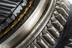 Shown in close up the mainshaft of the gearbox Stock Photography