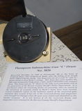 Thompson submachine gun L drum. Shown here is one of the actual Thompson sub-machine gun L drums used in the  st valentines day massacre. Morton house, in Stock Photos