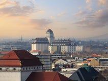 Showplace de Dresden durante o por do sol imagens de stock royalty free
