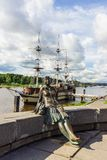 Showplace de Veliky Novgorod, Rússia imagem de stock