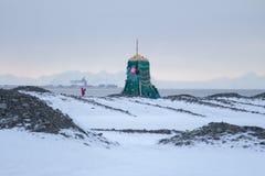 Showplace em Longyearbyen, Spitsbergen (Svalbard) noruega fotos de stock royalty free