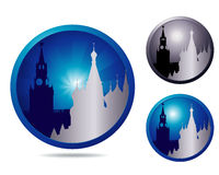 Showplace icon set Royalty Free Stock Image