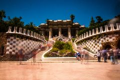 Showplace with many tourists royalty free stock photo