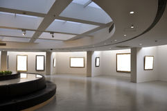 Showroom. An art museum exhibition hall Royalty Free Stock Images