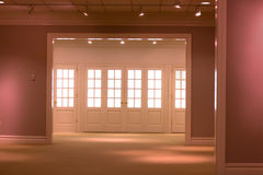 Showroom. Interior of an empty showroom gallery Royalty Free Stock Photography