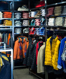 Showroom with casual clothes Stock Images