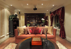Showroom design sense of the living room Royalty Free Stock Images