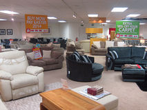Showroom in a furniture store. Royalty Free Stock Image