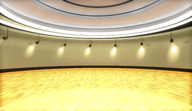 Showroom or gallery. Empty interior gallery or architecture royalty free illustration