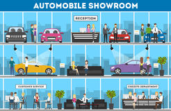 Showroom interior set. Royalty Free Stock Images