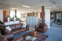 Showroom of modern and luxury  furniture store Stock Images