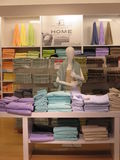 Showroom of towels Royalty Free Stock Photo