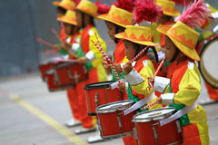 Shows drumband child Stock Photo