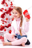 She shows her gift Stock Photo