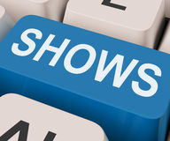 Shows Key Means Musicals Entertainment Or Theater Royalty Free Stock Images
