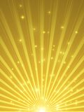 Showtime background - Celebration in gold and purple - Holidays and Spotlight. Showtime golden stars and spotlight background - Celebration in gold and purple Royalty Free Stock Photo