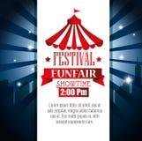 showtime del funfair del festival del cartel libre illustration