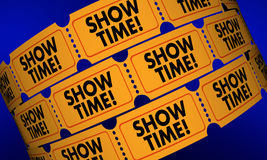 Showtime Movie Tickets Play Performance Admission Stock Images