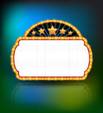 Showtime Retro Signs. Retro vintage frame banner promotion Royalty Free Stock Image