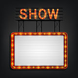 Showtime signboard retro style with light frame. Illustration of Showtime signboard retro style with light frame vector illustration