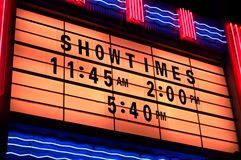 Showtimes Royalty Free Stock Photo