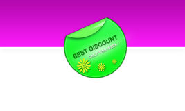 Showy Advertising Badge Royalty Free Stock Image