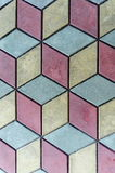 Showy background  of three color tile pattern, Septemvri town, Pazardzhik, Bulgaria Royalty Free Stock Photo