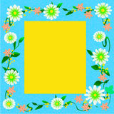 Showy flower frame Royalty Free Stock Photo