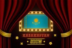 Showzeitbrett für Leistung, Kino, Unterhaltung, Roulette, Schürhaken des Kasachstan-Landereignisses r vektor abbildung
