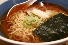 Shoyu ramen, Japanese noodles. Hot shoyu ramen, Japanese noodles stock photography