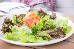 Shoyu Salmon Salad Royaltyfria Foton