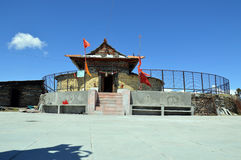 Shrai Koti Mata Temple. Shrai Koti Durga Mata Temple on the top of Daranghati peak is a heavenly place 11,000 feet above sea level, Rampur Bushahr, Shimla Royalty Free Stock Photo