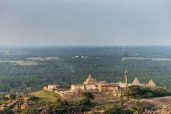 Chandragupta Basadi at Shravanabelagola, Karnataka, India. royalty free stock photography