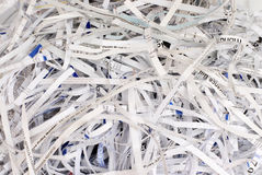 Shreaded Paper. Stack of shreaded paper Royalty Free Stock Photos