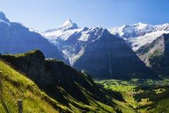 Shreckhorn около Grindelwald, Швейцарии Стоковые Фото