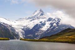The Shreckhorn from Lake Bachalp near Grindelwald, Switzerland Stock Photo