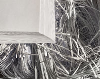 Shredded бумага в листах и Стоковое Изображение