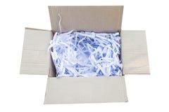 shredded бумага в коробке Стоковое Изображение RF