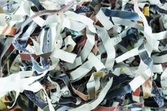 Shredded бумага кассеты длиной обнажает форму Стоковые Изображения RF