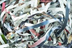 Shredded бумага от машины шредера Стоковые Фотографии RF