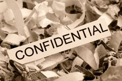 Shredded бумажное конфиденциальное стоковые изображения