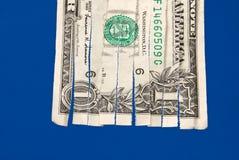 shredded доллар счета Стоковая Фотография RF