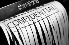 shredded конфиденциальный документ Стоковое Изображение