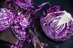 shredded красный цвет капусты Стоковое Изображение