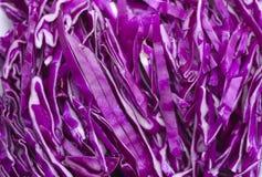 shredded красный цвет капусты Стоковые Фото