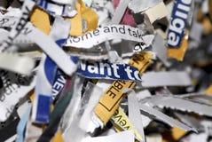 Shredded Imagens de Stock